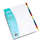 Separatoare plastic A4, 12 culori | set, EXXO