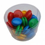 Magneti pentru tabla | whiteboard, 30 mm, multicolor, 50 bucati