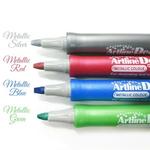 Marker pentru decoratiuni, 3 mm, culori metalizate, ARTLINE Decorite