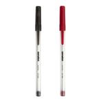Pix unica folosinta, 0.7 mm, negru | rosu, SENATOR Stick Pen