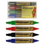 Marker pentru tabla magnetica | whiteboard, 2 in 1 (2 varfuri), 4 culori | set, ARTLINE 525T