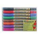 Marker pentru tabla magnetica | whiteboard, 2 in 1 (2 varfuri), 8 culori | set, ARTLINE 541T