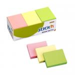 Notes autoadeziv | post-it, 38x51 mm, 3 culori neon, 12x100 file/set, STICK'N