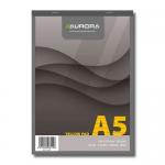 Blocnotes capsat, A5, hartie galbena, 80 file, AURORA Office