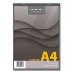 Blocnotes capsat, A4, hartie galbena, 80 file, AURORA Office