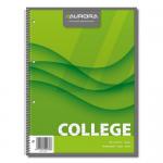 Caiet cu spira, A4, 80 file, AURORA College