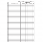 Condica de prezenta, A4, 50 file | carnet