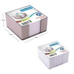Rezerva cub hartie alba + suport plastic, 90x90 mm, 500 file, ARK