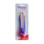 Cutter premium, sina metalica, autoincarcare, lama 18 mm SK5 (2 rezerve), OPTIMA