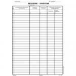 Registru inventar, A4, 100 file | carnet