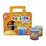 Tempera 80 ml, 6 culori, pictura manuala, CARIOCA Baby Finger Paint