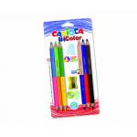 Creioane colorate, 12 culori | cutie, CARIOCA Jumbo Bi-Color