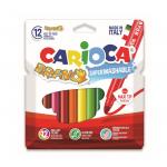 Carioca super-lavabila, 6 mm, 12 culori | cutie, CARIOCA Bravo