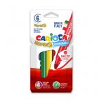 Carioca super-lavabila, 6 mm, 6 culori | cutie, CARIOCA Bravo