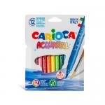 Carioca lavabila tip pensula, 12 culori | cutie, CARIOCA Acquarell