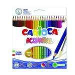 Creioane colorate, 24 culori   cutie, CARIOCA Acquarell