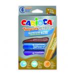 Creioane tempera, lavabile, 6 culori metalizate | cutie, CARIOCA Temperello Metallic