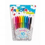 Pix unica folosinta, 1 mm, 10 culori fluorescente | blister, CARIOCA Fiorella
