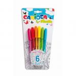 Pix unica folosinta, 1 mm, 6 culori fluorescente | blister, CARIOCA Fiorella