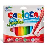 Carioca super-lavabila, 6 mm, 12 culori | cutie, CARIOCA Jumbo