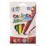 Carioca super-lavabila, 6 mm, 6 culori | cutie, CARIOCA Jumbo