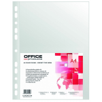 Folie protectie documente A4, cristal, 50 microni, 100 bucati | set, OFFICE PRODUCTS