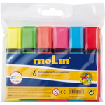 Textmarker | evidentiator, 1-5 mm, 6 culori | set, MOLIN