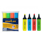 Textmarker | evidentiator, 1-5 mm, 4 culori | set, MOLIN