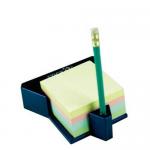 Cub notite autoadeziv cu suport, 76x76 mm, 4 culori pastel, 400 file/buc, STICK'N