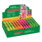 Plastilina fluorescenta, 4 culori, 1.8 kg | cutie, ALPINO