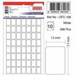 Etichete albe autoadezive, 56/A5, 12x17 mm, 560 buc | set, TANEX