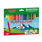 Creioane colorate cerate, 24 culori | cutie, ALPINO Plasti