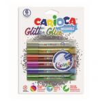 Lipici glitter cu sclipici, 10.5 ml, 6 culori | set, CARIOCA