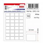 Etichete albe autoadezive, 32/A5, 16x22 mm, 320 buc | set, TANEX