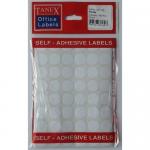Etichete albe autoadezive, diametru 10 mm, 1080 buc | set, TANEX