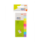 Stick index autoadeziv hartie, 50x12 mm, 9 culori, 450 file | set, STICK'N