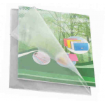 Folie | mapa protectie documente A4, deschidere in L, 90 microni, 100 bucati | set, EXXO