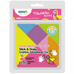 Notes creativ autoadeziv | post-it, 7 culori, 7x150 file, STICK'N Tangram