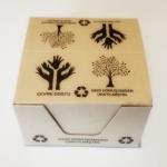 Cub notite hartie reciclata, suport carton, 80x80x50 mm, 500 file
