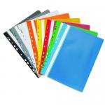 Dosar plastic cu sina si multiperforatii, A4, 10 bucati | set, DONAU