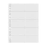 Folii protectie pentru 20 carti vizita, A4, transparent cristal, 10 buc | set, DONAU