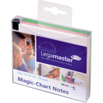 Notite colorate autoadezive | stickere, 10x10 cm, 300 buc | set, LEGAMASTER Magic-Chart Notes