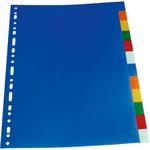 Separatoare plastic A4, 20 culori | set, OPTIMA