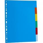 Separatoare carton A4, 6 culori | set, OPTIMA