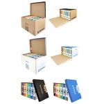 Container arhivare cutii, deschidere frontala, 555x360x315 mm, DONAU
