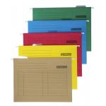 Dosar suspendabil cu eticheta, bagheta metalica, carton color 230 gr/mp, 5 bucati | set, DONAU
