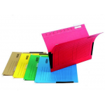 Dosar suspendabil cu burduf, bagheta metalica, carton color 230 gr/mp, 5 bucati | set, DONAU