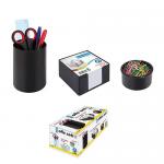 Set 3 suporturi articole birou, plastic ABS, ARK 1301