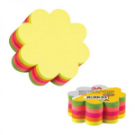 Notes autoadeziv Die-Cut | post-it, 67x67 mm, floare, 5 culori neon, 250 file/buc, 3A