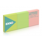 Notes autoadeziv | post-it, 40x50 mm, 3 culori neon, 3x100 file | set, EXXO